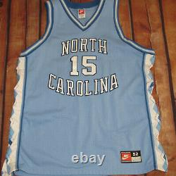 100% Authentic Nike North Carolina Tar Heels Vince Carter Jersey SZ 52 Road UNC
