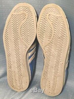 12 Vintage 1997 ADIDAS Patent Leather SUPERSTAR Tar Heels UNC Lt. Blue USED ONCE