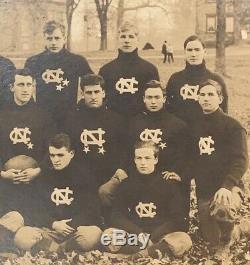 1910 Univ of North Carolina Tarheels Football Team Cabinet Photo Antique UNC Old