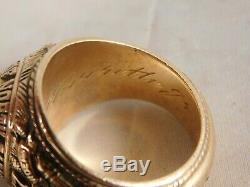 1967 Unc University Of North Carolina 10k Gold Class Ring 30.5 Grams Tarheels