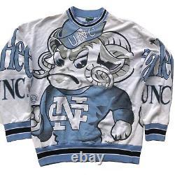 1980s North Carolina Tar Heels Rare Vintage 80s UNC All Over Print Sweatshirt