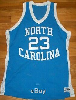1982-83 UNC Tar Heels Jordan Authentic Game Jersey Sz 44 Sand Knit Berlin WI USA