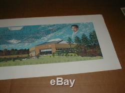 1986 University of North Carolina UNC Dean Smith Center Poster Print Tar Heels