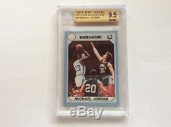 1990 JORDAN #3 44 61 93 Carolina bgs 9.5 unc collegiate collection tarheels