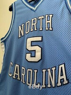 1990s AUTHENTIC NIKE UNC TARHEELS NORTH CAROLINA #5 JERSEY L 44 MADE IN USA OG