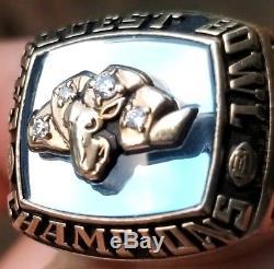 1995 Unc North Carolina Tarheels Championship Ring Players 10k Gold Jostens