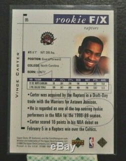 1998-99 SP Authentic Vince Carter Rookie F/X RC /3500 UNC Tarheels Raptors