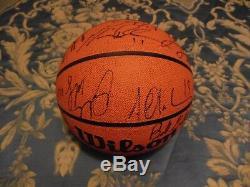 1998-99 UNC Tar Heel Basketball Autograph Basketball