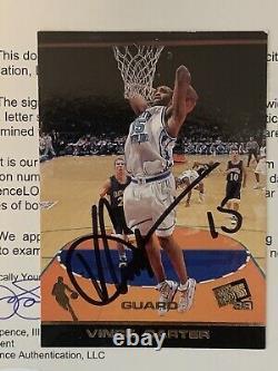 1998 Press Pass Vince Carter Autographed Rookie JSA LOA UNC Tar Heels