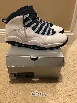 2005 Nike Air Jordan 10 X Retro Ice Baby Blue UNC Tarheels 310805-141 SZ 12