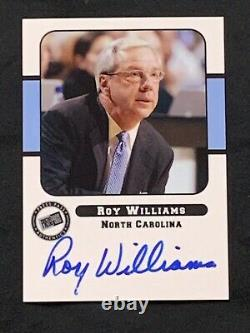 2005 Press Pass Roy Williams On Card Auto SSP North Carolina UNC Tar Heels HOF