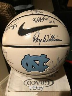 2006-07 NORTH CAROLINA TAR HEELS UNC Basketball Signed by Team Players & Coaches