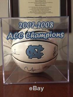 2007-2008 Final Four UNC North Carolina Tar Heels Team Signed Basketball