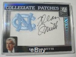2007 Donruss Elite Dean Smith Unc Logo Patch Auto Signature #'d 79/250 Tar Heels
