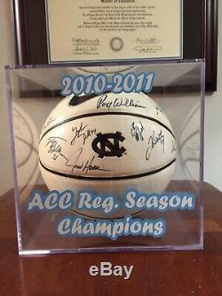 2010-2011 UNC North Carolina Tar Heels Team Signed Basketball