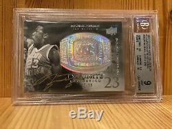 2011-12 UD Exquisite Championship Bling Michael Jordan Gold Card Auto /99 BGS 10