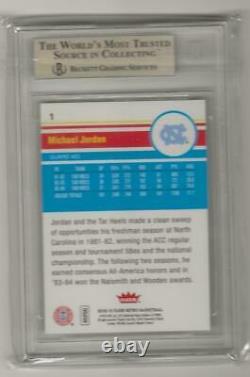 2012-13 Fleer Retro Michael Jordan Card #1 Bgs 9.5 Unc Tar Heels Chicago Bulls