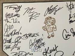 2013 UNC Tar Heels Team Signed Home Plate Colin Moran Mike Fox COA