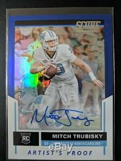 2017 Score Mitchell Trubisky Autograph Auto RC Mint Chicago Bears UNC Tar Heels