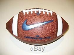 2018 North Carolina Tar Heels GAME BALL Nike Vapor Elite Football UNC