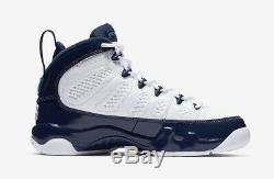 2019 Nike Air Jordan 9 Retro SZ 11 White Carolina Blue UNC Tarheels 302370-145