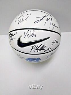 2019 North Carolina UNC Tar Heels SIGNED White Nike Logo Basketball NASSIR COBY