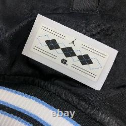 $250 Nike Jordan UNC North Carolina Tar Heels Satin Stitched Bomber Mens SMALL