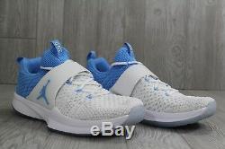 32 Nike Jordan Trainer 2 Flyknit North Carolina Tar Heels UNC 921210-106 Size 14