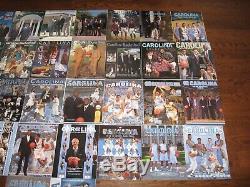 35 1985-2019 UNC North Carolina Tar Heels Basketball Media Guides Incredible Lot