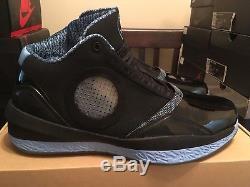 Air Jordan 2010 Black/University Blue SZ 11-UNC Tar Heels powder blue