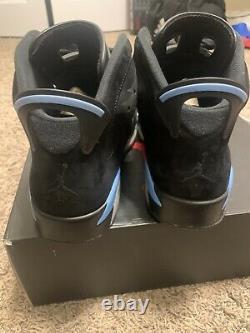 Air Jordan 6 Retro VI Black UNC Blue Size 10.5 Mens 384664-006 Tar Heels
