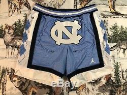 Air Jordan Just Don UNC North Carolina Shorts Size L Large Tar Heels Jersey