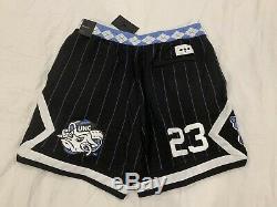 Air Jordan Retro UNC Tar Heels Fleece Basketball Shorts Men's Size XX-Large New