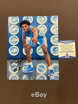 BECKETT COA! CALEB LOVE Signed Autographed UNC TAR HEELS Basketball 8x10 Photo