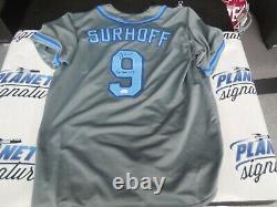 B. J. BJ Surhoff signed North Carolina UNC Tar Heels sewn on XL jersey JSA COA