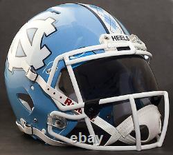 CUSTOM NORTH CAROLINA TAR HEELS UNC NCAA Riddell SPEED Replica Football Helmet