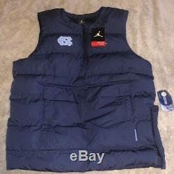 Carolina Tar Heels UNC Nike Jordan Protect Shield 1/2-Zip Pullover Vest Size M