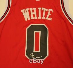 Coby White Signed Chicago Bulls Basketball Jersey Size 52 XL withCOA UNC Tar Heels