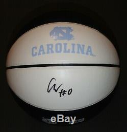 Coby White Signed Full Size UNC North Carolina Tar Heels Basketball WithCOA