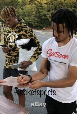 Cole Anthony And Armando Bacot UNC Tar Heels Basketball Signed Floorboard Proof