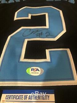 Cole Anthony Signed Autograph Unc Tar Heels Jersey Psa Coa