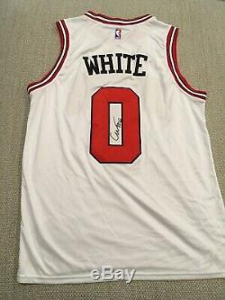 EXACT PROOF! COBY WHITE Signed Autographed CHICAGO BULLS Jersey #0 UNC Tar Heels