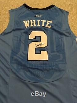 EXACT PROOF! COBY WHITE Signed Autographed UNC TAR HEELS Jersey North Carolina