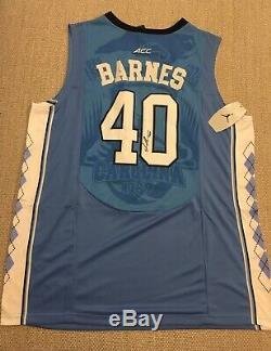 EXACT PROOF! HARRISON BARNES Signed Autographed UNC TAR HEELS Jersey Carolina