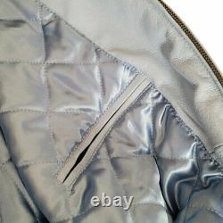 G-III Sports Vintage UNC Carolina Tar Heels Blue Leather Bomber Full Zip Jacket