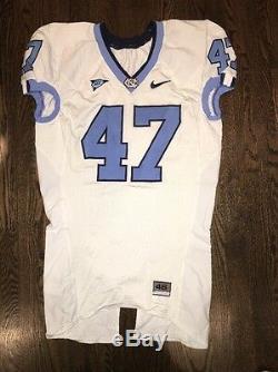 Game Worn North Carolina Tar Heels UNC Football Jersey Used Nike #47 Size 46