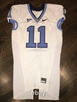 Game Worn Used Nike North Carolina Tar Heels UNC Football Jersey #11 Size 42