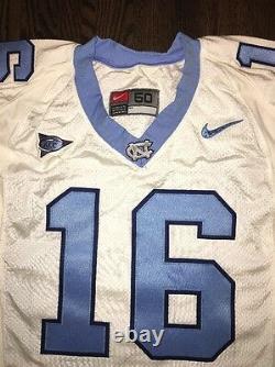 Game Worn Used Nike North Carolina Tar Heels UNC Football Jersey #16 Size 50