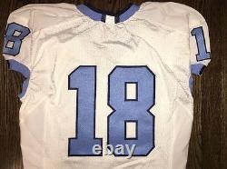 Game Worn Used Nike North Carolina Tar Heels UNC Football Jersey #18 Size 44