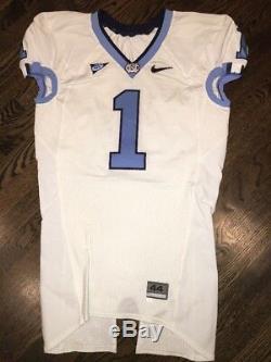 Game Worn Used Nike North Carolina Tar Heels UNC Football Jersey #1 Size 44
